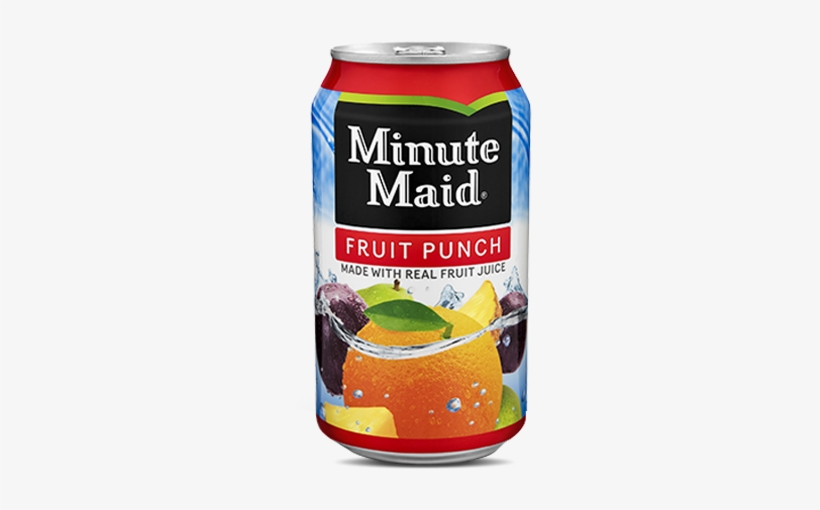 12 Fl Oz Can - Minute Maid Fruit Punch Can, transparent png #3549109