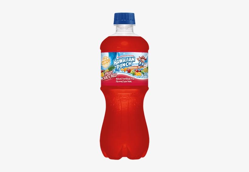 Hawaiian Punch Fruit Juicy Red Juice Drink - Hawaiian Punch Fruit Juicy Red, 20 Fl Oz Bottle, transparent png #3549304