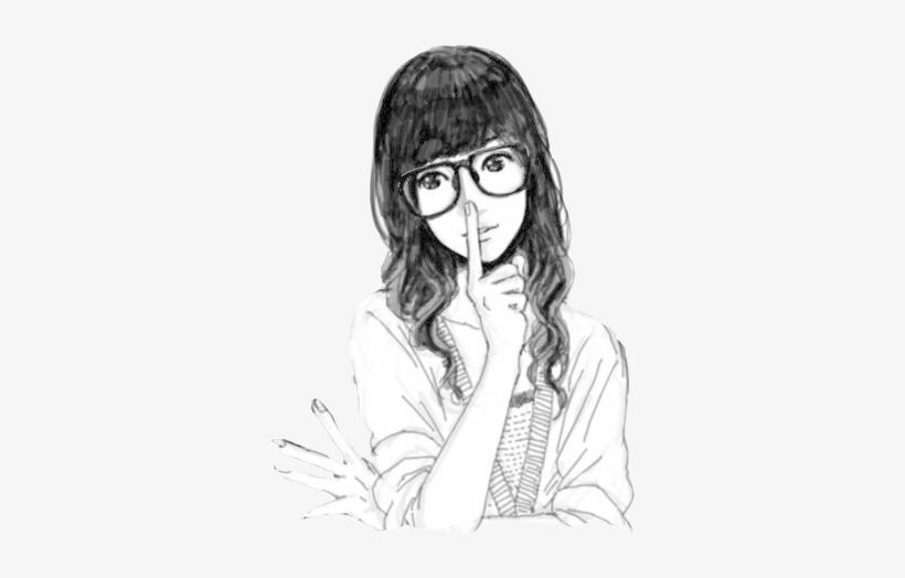 Chicas Png Tumblr Desenho De Menina De Oculos Free