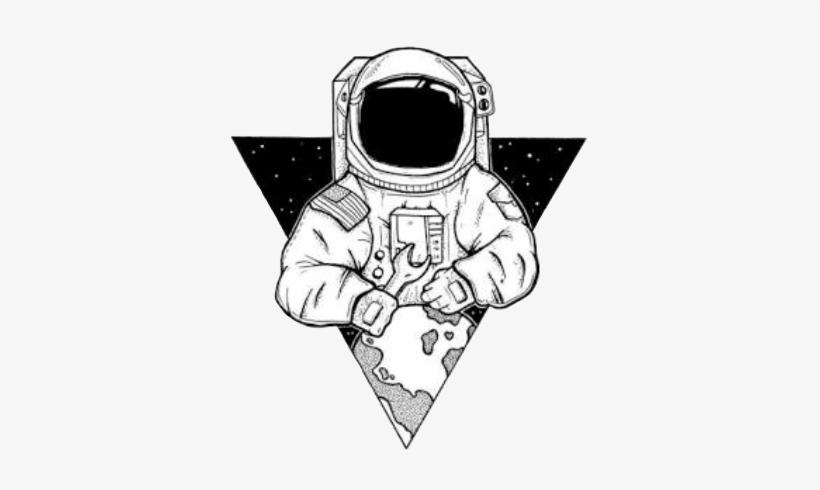Astronauta Universo Tumblr Blancoynegro