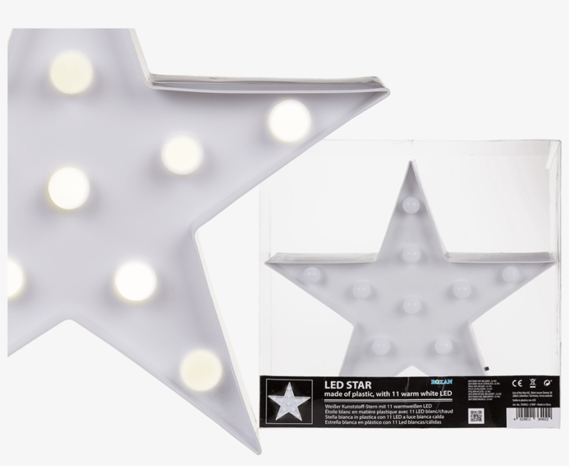 Light Up Led Star With 11 Led's - Out Of The Blue, transparent png #3556015