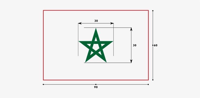 Bandera De Marruecos - Estrella De La Bandera De Marruecos, transparent png #3556106
