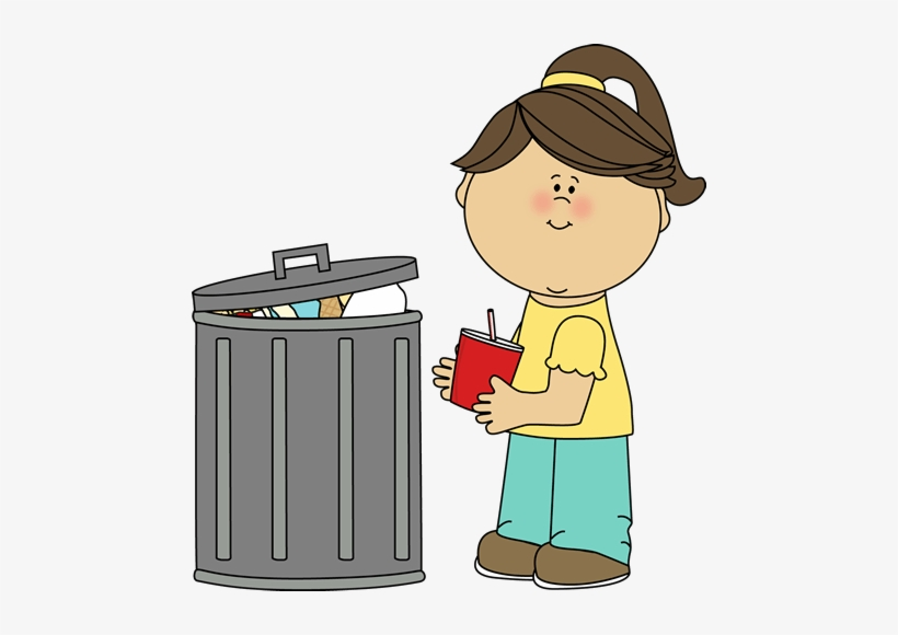 Trash Pick Up Clipart - Put The Trash In The Trash Can, transparent png #3556459