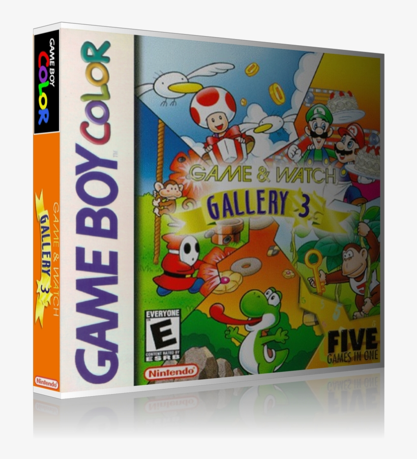 Gameboy Color Game And Watch Gallery 3 Game Cover To - Game & Watch Gallery 3 Game Boy Color Cartridge, transparent png #3558686