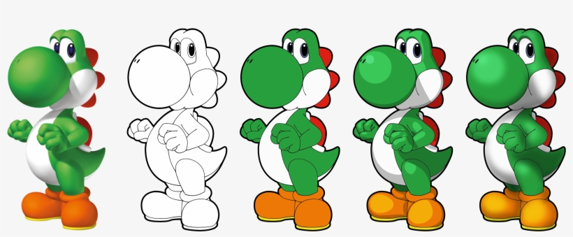Drawings Drawing Ideas Yoshi Drawing Best Of Yoshi - Super Mario Chess Collectors Edition Board Game, transparent png #3559075