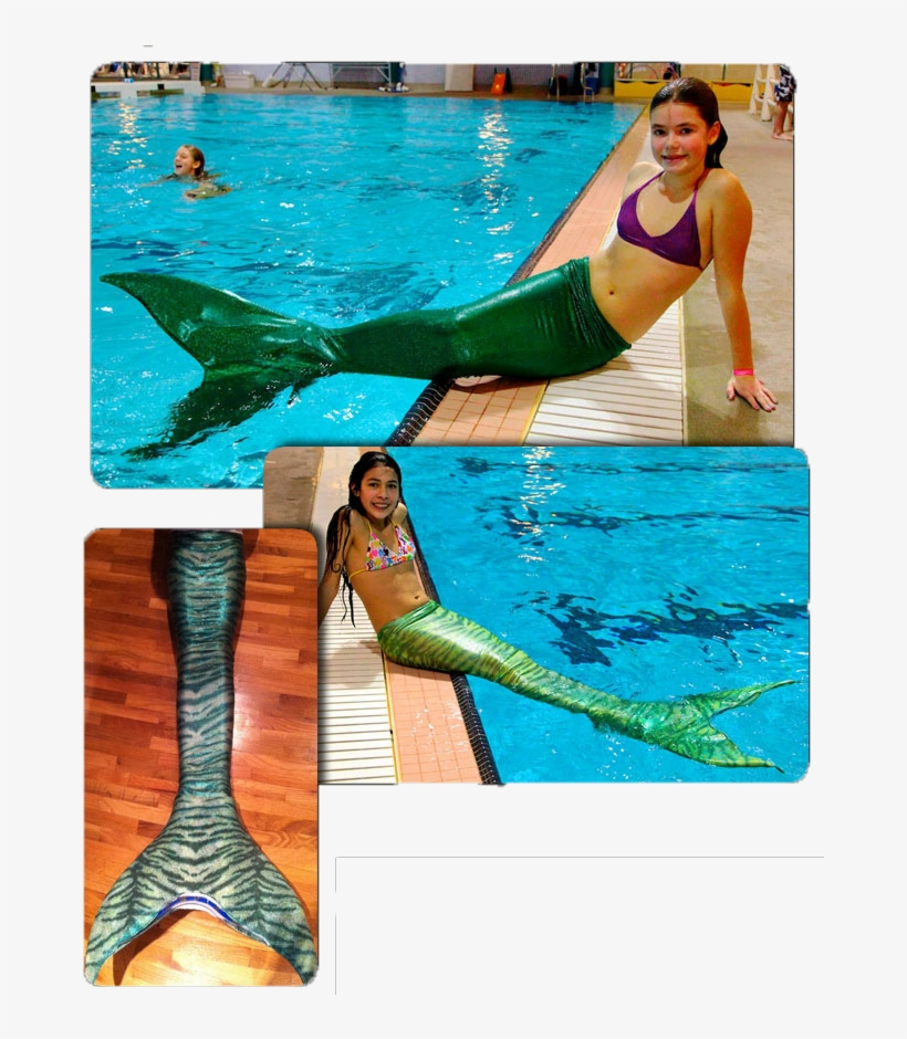 The Green Tail - 3 Fins Mermaid Tails, transparent png #3563054