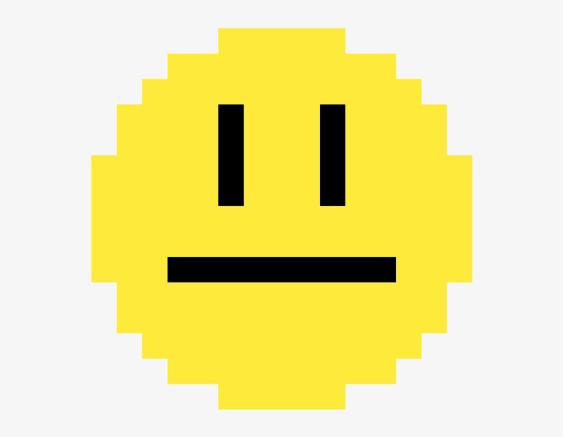 Meh Emoji - Pixel Art Apple Rainbow, transparent png #3565255