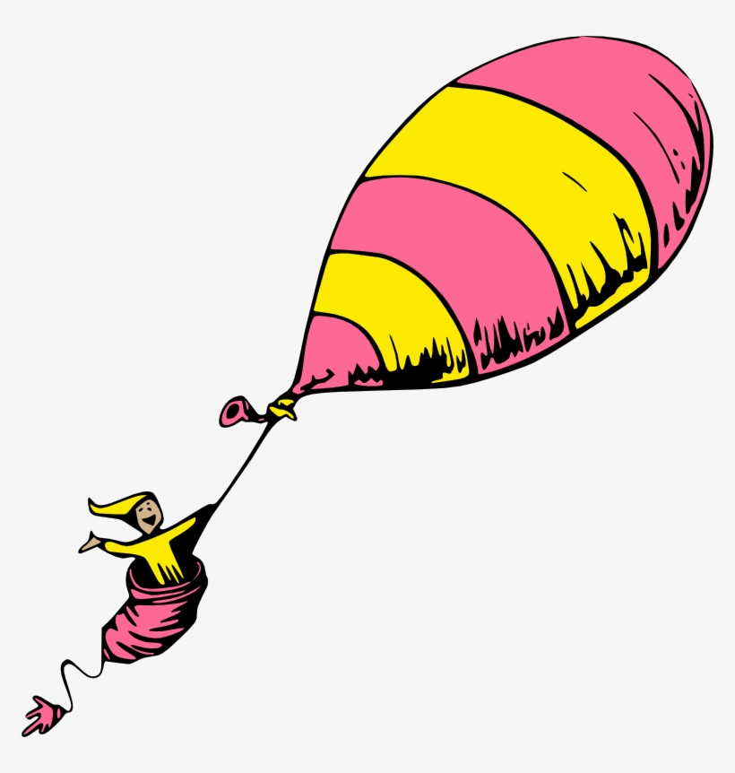 Dr Seuss Clipart - Oh The Places You Ll Go Balloon, transparent png #3565567