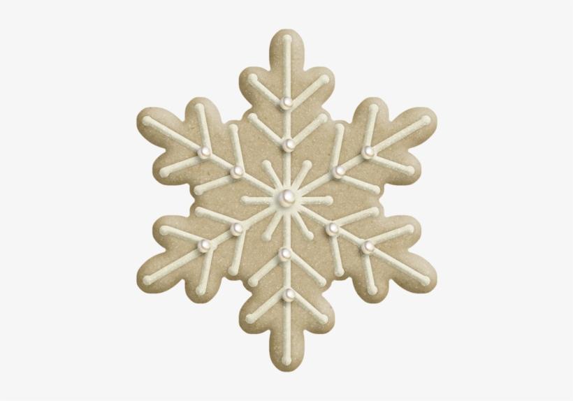 Estrellas De Navidad Y Copos De Nieve - Christmas Cookie Png, transparent png #3568599
