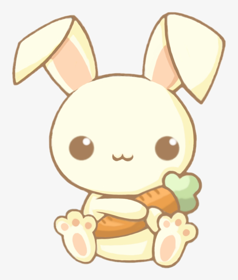 Cute Kawaii Bunny Rabbit Carrot Chibi Animals Adorable Easy Cute
