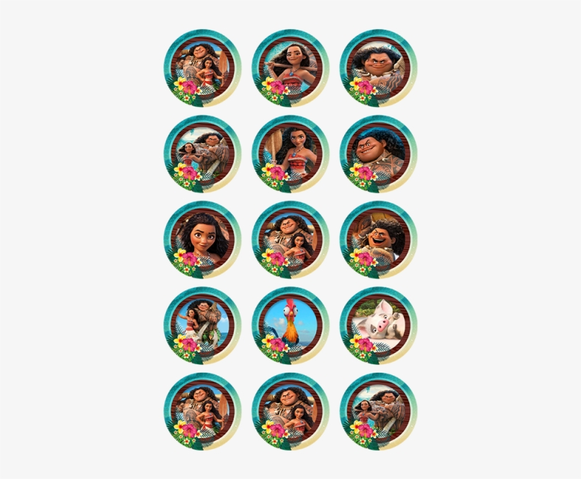 Moana Or (30x - Blaze And Monster Machines Cupcakes, transparent png #3569294