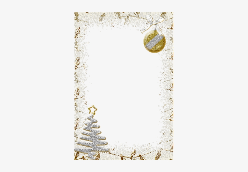 Merry Christmas Photo Frames - Silver And Gold Christmas Invitations, transparent png #3571319