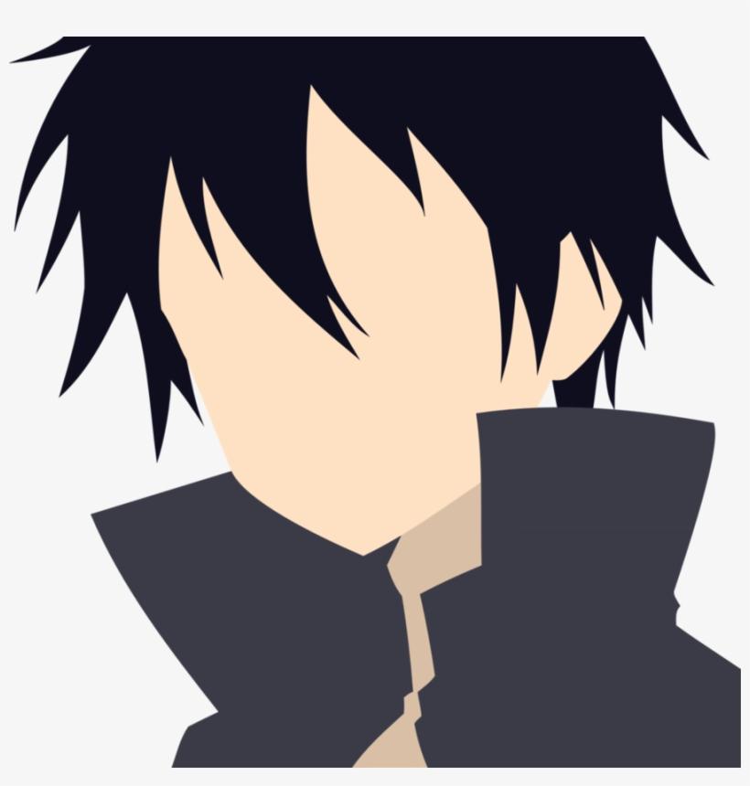 Sword Art Online Kirito Vector - Sword Art Online Kirito Hair, transparent png #3573073