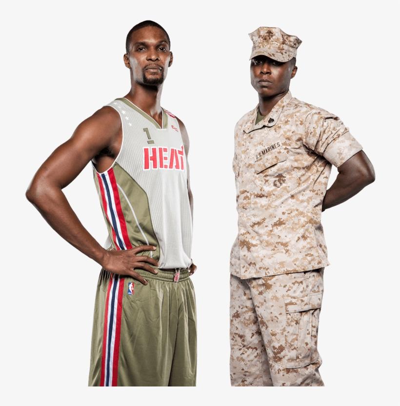 Miami Heat Home Strong - Miami Heat Veterans Day Uniform, transparent png #3575074
