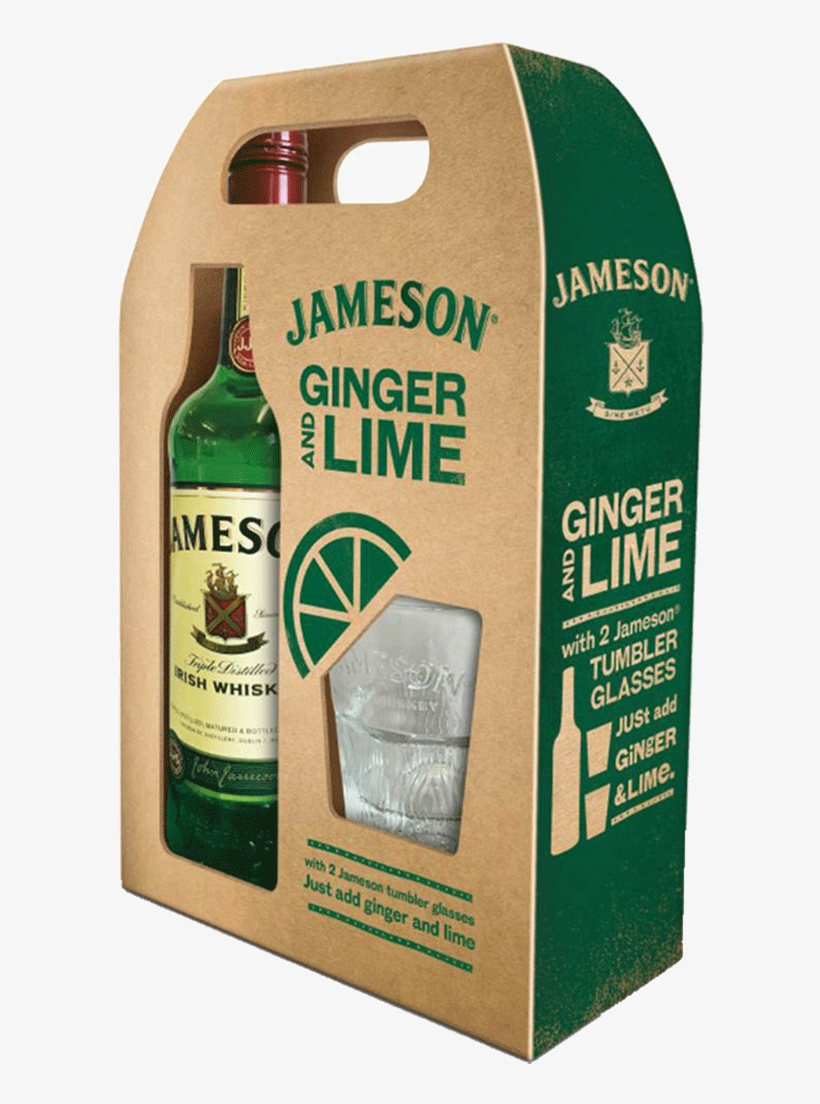 Jameson Irish Whiskey Gift Pack - Jameson Irish Whiskey, transparent png #3578654