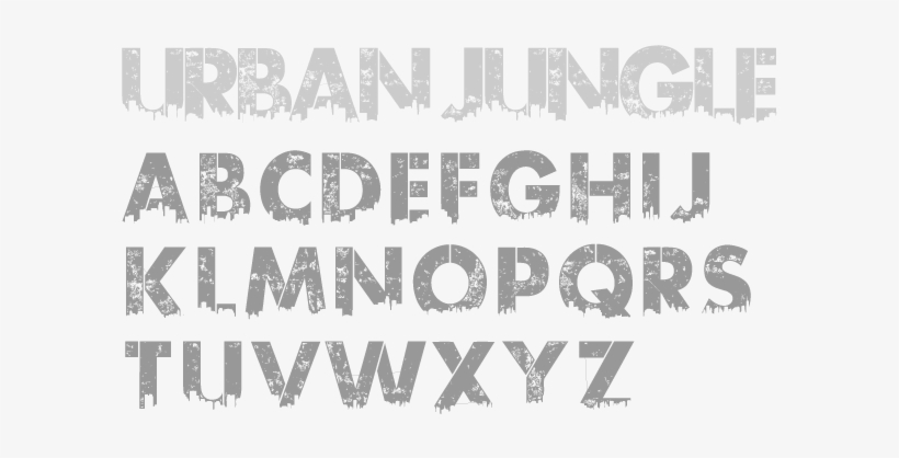 Urban Jungle - Kc Fonts - New New York 3000 Years Later, transparent png #3590285