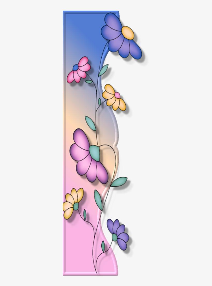 Borders * Cantoneiras * Cluster - Side Border Flower Design, transparent png #3591334