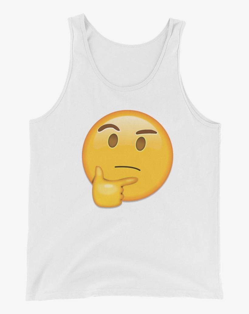 Men's Emoji Tank Top - Denkendes Gesicht - Emoji Runder Aufkleber, transparent png #3595205