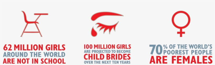 Invest In Girls Info - 62 Million Girls Not In School, transparent png #3595587