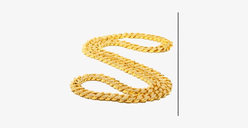 "Cuban Curn Link - King Ice 14k Gold 15mm Cz Cuban Curb Chain 36"" / 14k, transparent png #3598599"