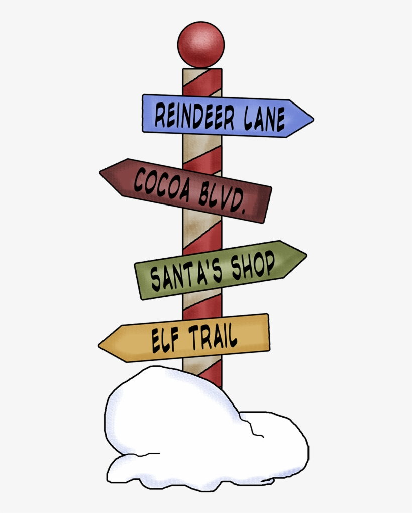 Northpole Street Signs - Merry Christmas School Bus Card, transparent png #360677