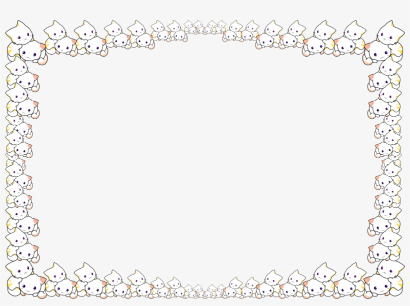 Clip Art Freeuse Download Cat Clipart Frame - Kitten Border, transparent png #361055
