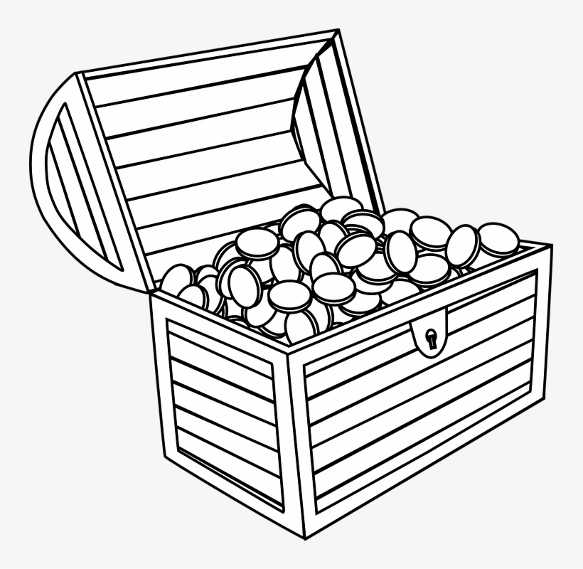 Chest Clipart Drawing Small Treasure Chest Drawing Free Transparent Png Download Pngkey