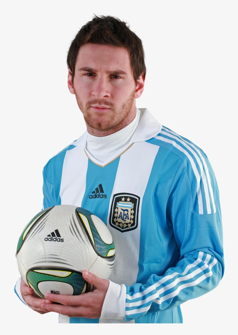 Lionel Messi Football Renders - Messi With Football Png, transparent png #361482