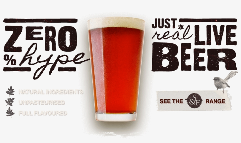 Natural Ingredients, Unpasteurised And Full Flavoured - New Zealand Craft Beer Ads, transparent png #362378