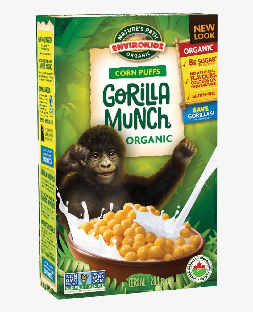Envirokidz Organic Corn Puffs Gorilla Munch Cereal, transparent png #362563