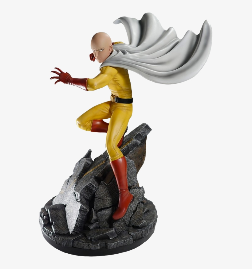 One-punch - One Punch Man 1/4 Scale Statue: Saitama, transparent png #362698