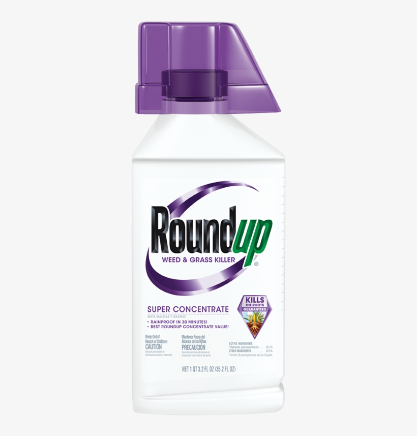 Roundup® Weed & Grass Killer Super Concentrate - Round Up Spray, transparent png #362783