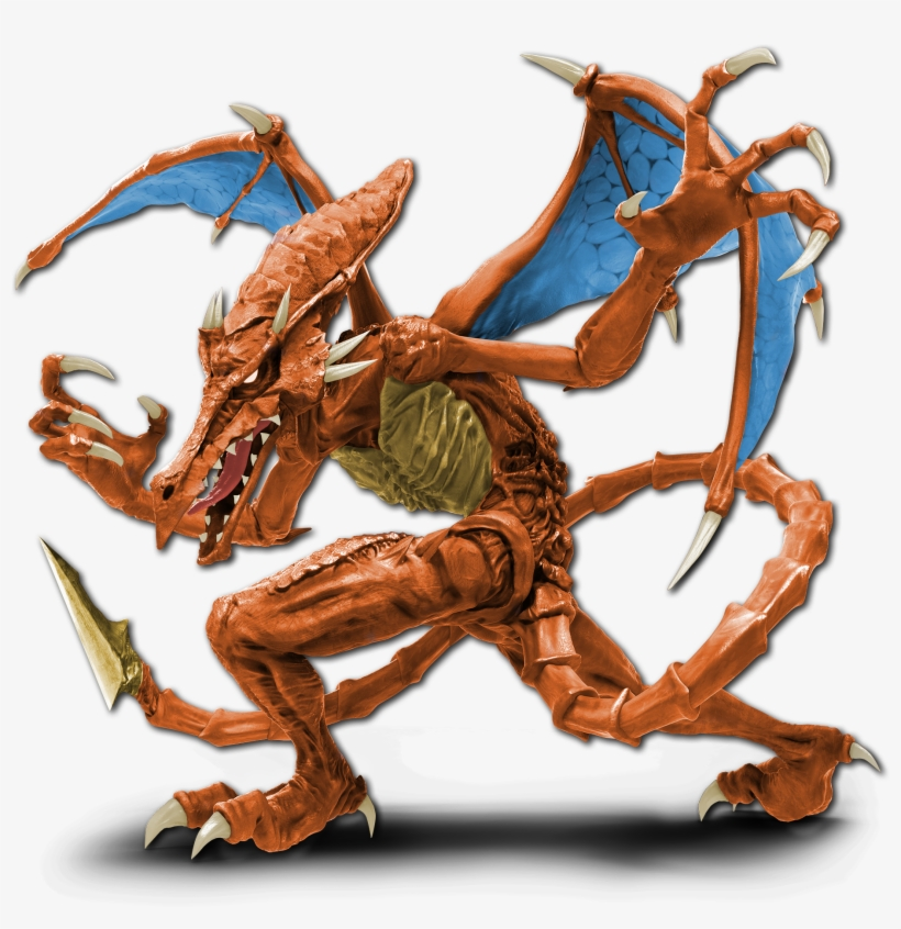 Ultimatemade Charizard Recolour For Ridley - Super Smash Bros Ultimate Ridley Render, transparent png #365382