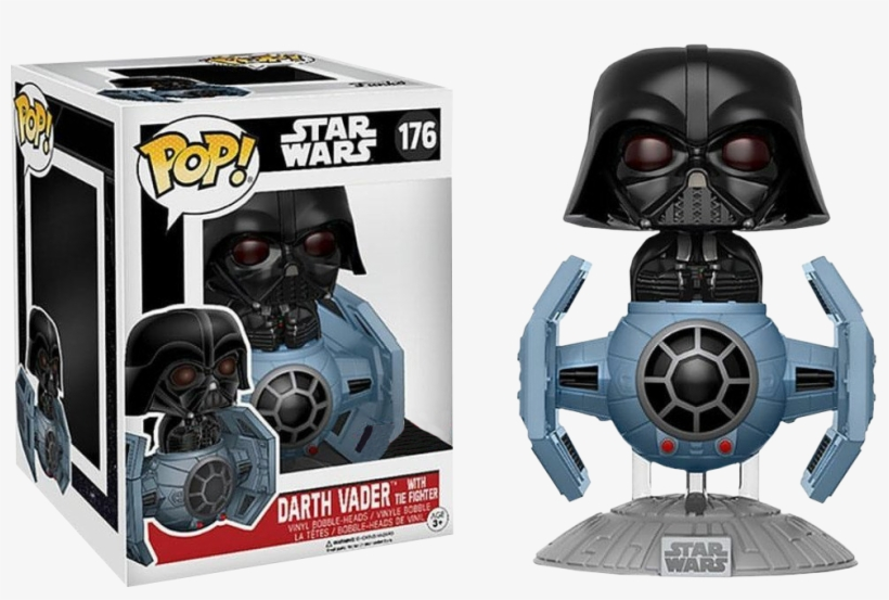 Funko Pop Deluxe Star Wars Darth Vader With Tie Fighter - Darth Vader Tie Fighter Funko Pop, transparent png #368475