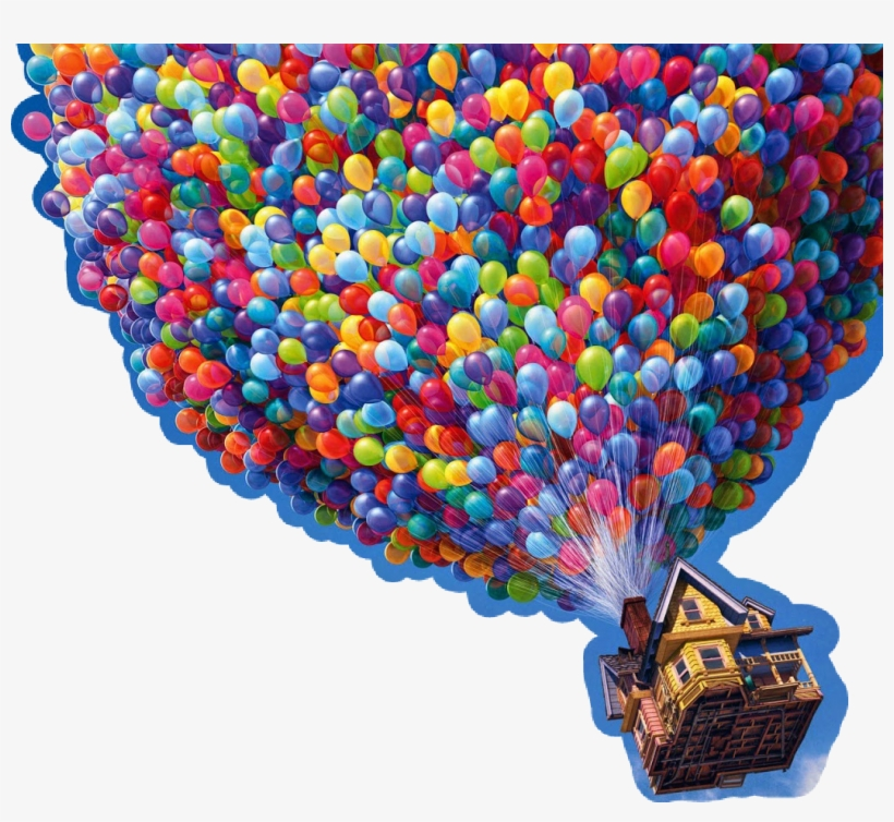 Up Disney Pixar Balloons Balloon Clouds Sky - Up Disney Pixar Png, transparent png #368842