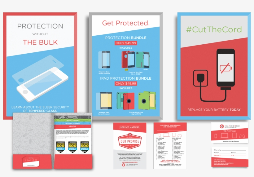 Cell Phone Repair Print Collateral By Front Porch Solutions - Phone Repair Ad, transparent png #3600933