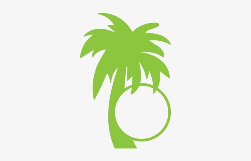 Summer Monogram Frame - Palm Trees, transparent png #3601090