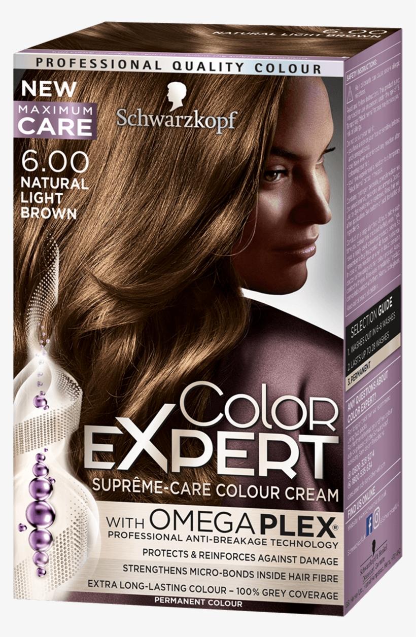 Color Expert Color Creme - Schwarzkopf Color Expert Natural Light Brown 6.0 Hair, transparent png #3605892