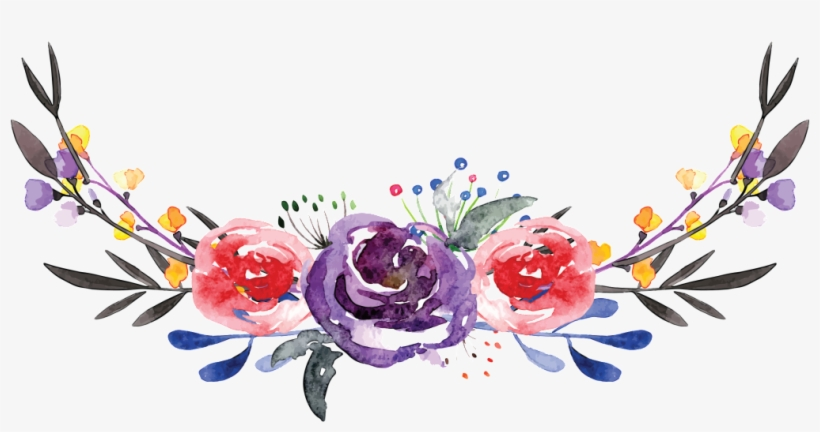 Hand-painted Flowers, Squid, Beautiful Hd Png - Watercolor Flowers Crown, transparent png #3613570