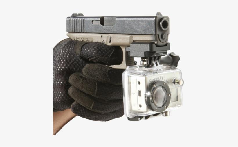 Gopro Hd Hero Pistol Rail Gun Mount - Glock Gopro Mount, transparent png #3613725