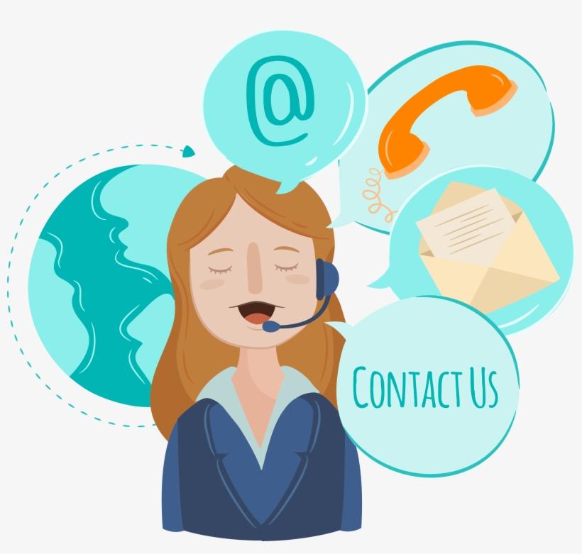 Contact-us - Contact Us Cartoon Png, transparent png #3621302