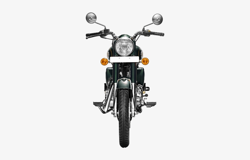 Royal Enfield Bullet 500 India - Royal Enfield Bike Front View, transparent png #3622305