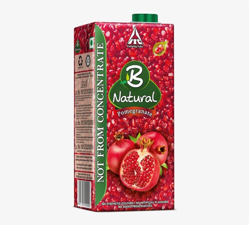 B Natural Mixed Fruit Drinks - B Natural Pomegranate, 200ml, transparent png #3622465