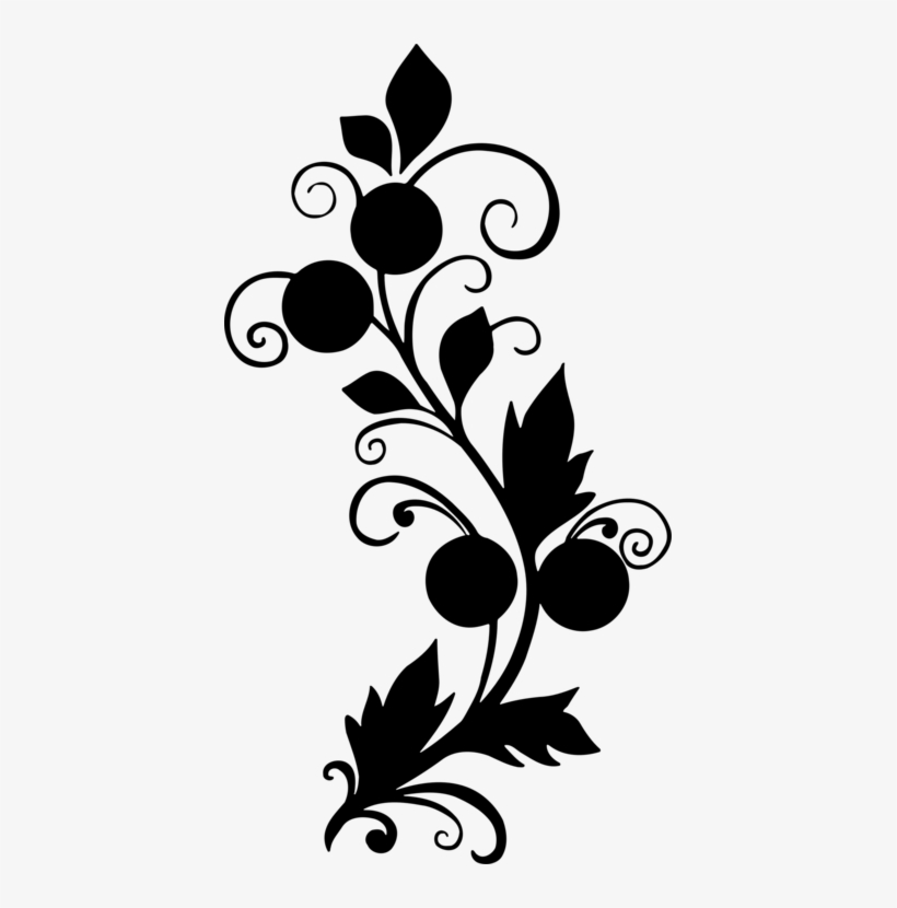 Flower Drawing Black And White Floral Design - Abstract ...