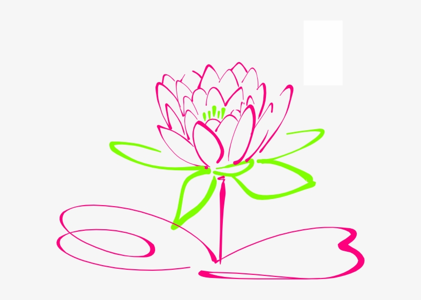 How To Set Use Lotus Clipart - Simple Flower Drawings Lotus, transparent png #3622871