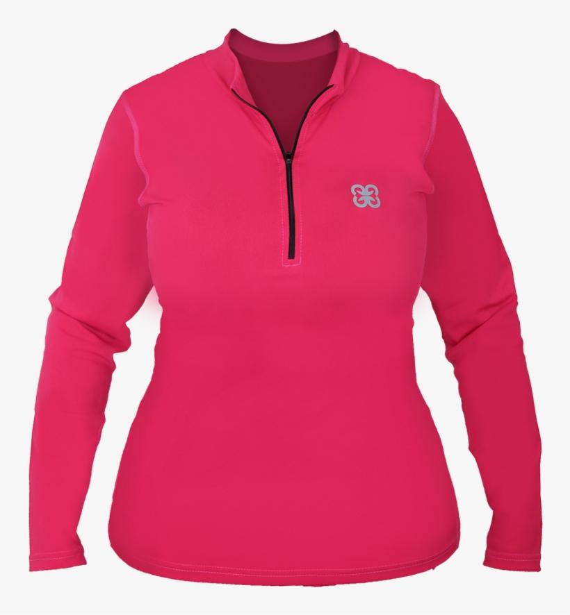 Pink Jacket For Women Download Transparent Png Image - Long-sleeved T-shirt, transparent png #3623526