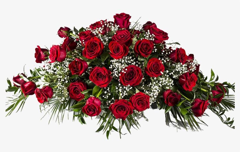Red Rose Flower Arrangement - Red Rose Funeral Flowers, transparent png #3628158