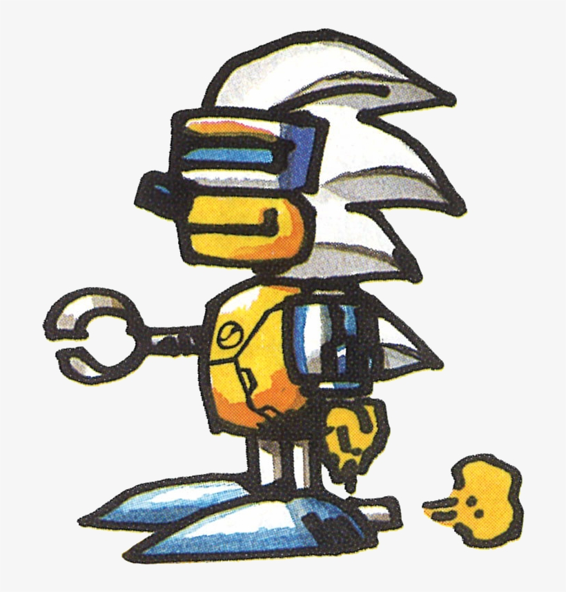 Silver Sonic - Silver Sonic Scrambled Egg Zone, transparent png #3628804