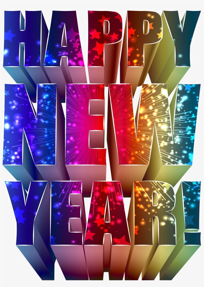 New Year Text Decoration Png Clip Art Image, Is Available - Graphic Design, transparent png #3629813