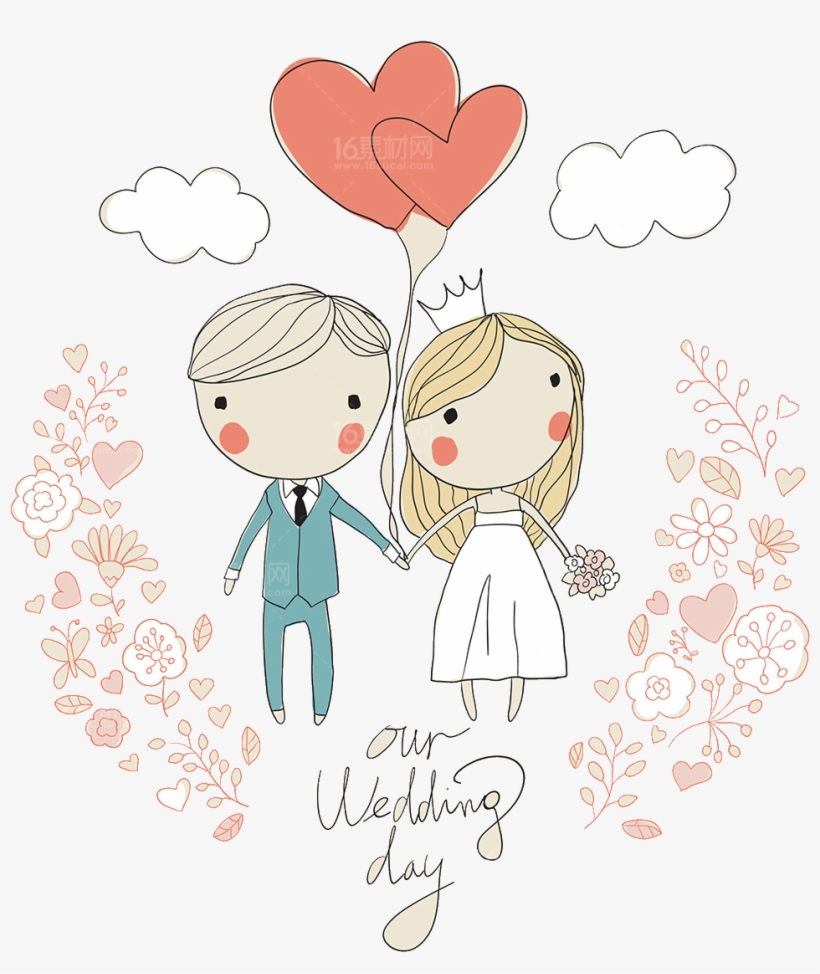 Svg Download Wedding Invitation Illustration Cartoon Cute